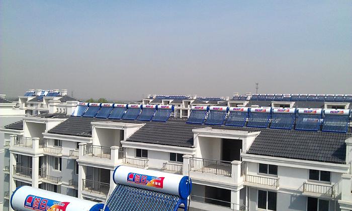 扬州扬庙镇锦阳苑小区太阳能工程